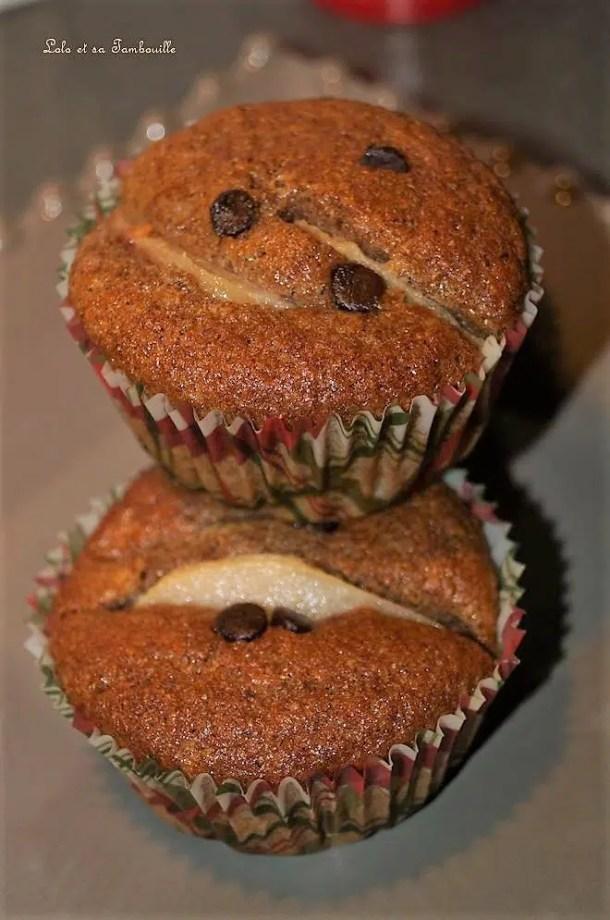 Muffins au son de blé, poire & cannelle