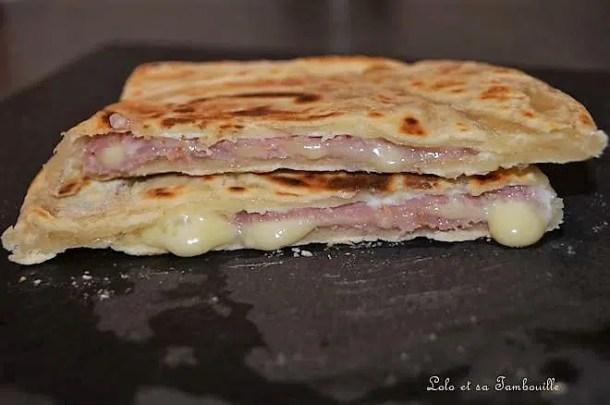 Naans au bacon & gouda