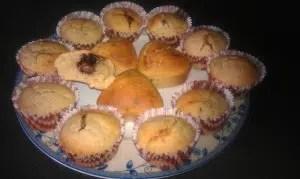 muffins au lait de coco coeur nutella sorawel