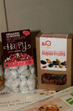 Amandes chocolat au lait & sucre glace, Mix superfruits