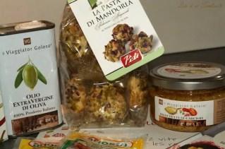 La Pasta di Mandorla al Pistacchio di Sicilia, Bruchetta con Funghi, Pomodori Essicati et L'Olio Extra Vergine di Oliva