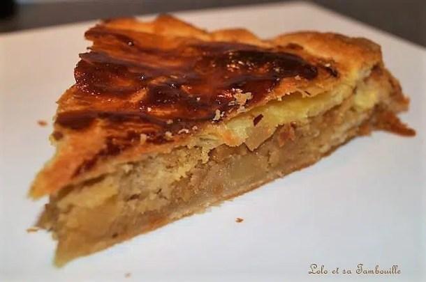 Galette des rois aux pommes & caramel au beurre salé