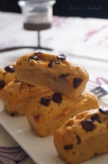 Douceurs au beurre de cachuètes & pépites de chocolat {comme des financiers} (4)