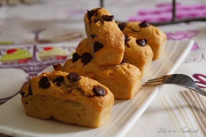Douceurs au beurre de cachuètes & pépites de chocolat {comme des financiers} (6)