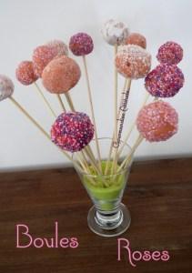 Les boules roses Stéphanie