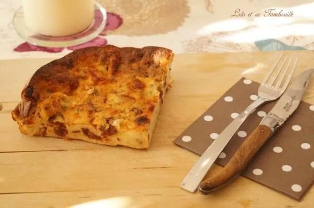 Quiche sans pâte aux tomates séchées & mozzarella
