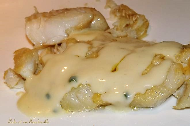 Sauce blanche {pour poisson blanc}