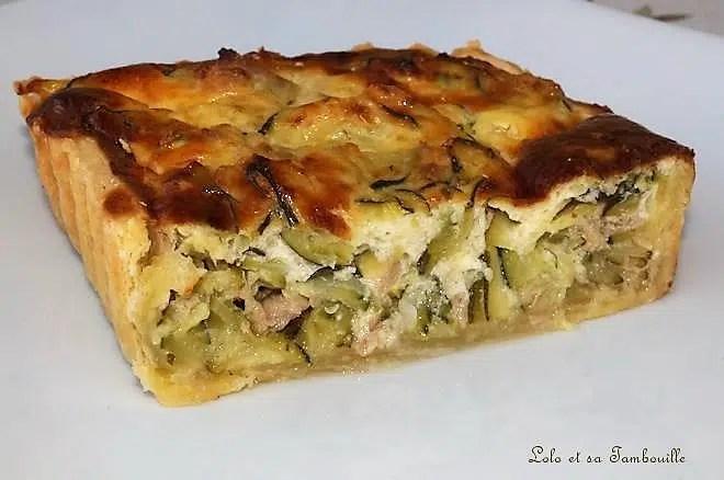 recette tarte courgette thon