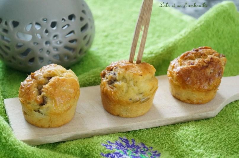 Mini cakes anchois & basilic...