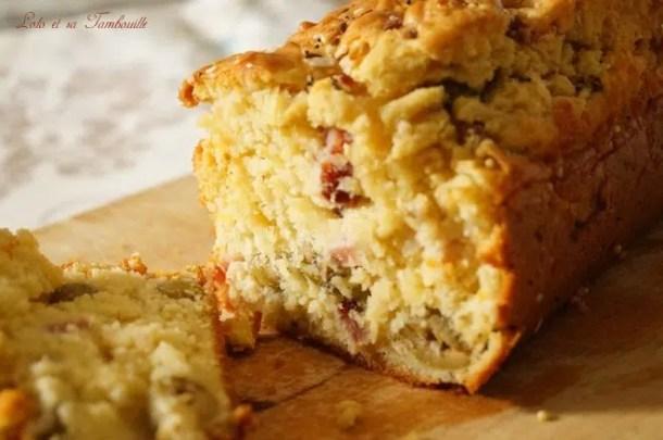 Cake aux olives & lardons
