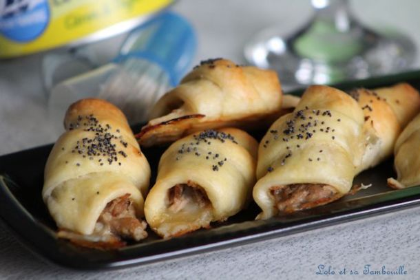 Croissants au thon & mozzarella
