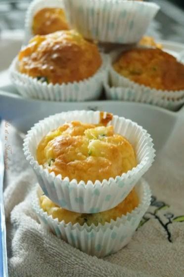 Muffins aux courgettes & saumon fumé (6)