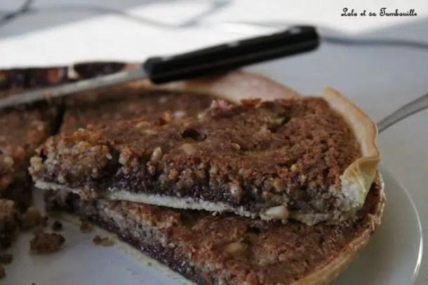 Tarte aux amandes & chocolat