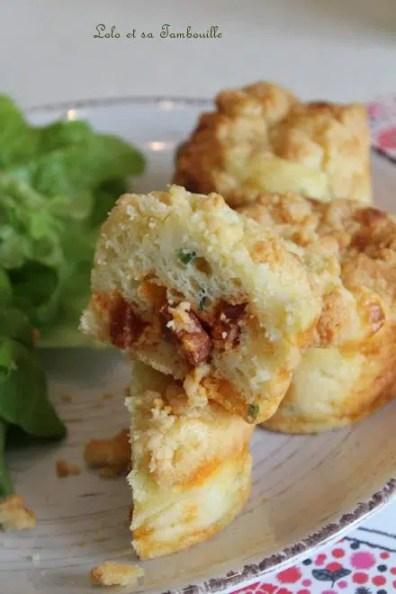 Muffins crumble au chorizo & chèvre (7)