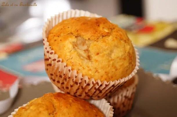 Muffins aux flocons d'avoine & poire