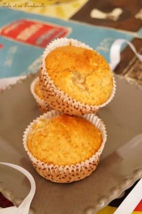 Muffins auxflocons d'avoine & poires (6)