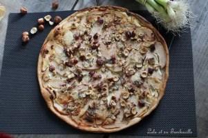 Tarte fine à la poire & roquefort (4)