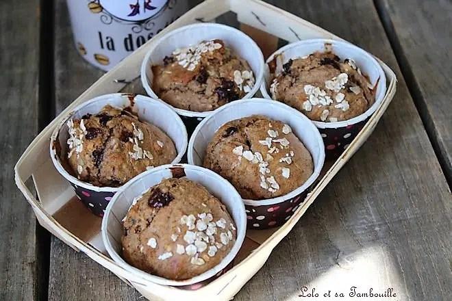 Muffins de petit déjeuner {sans beurre ni sucre ajouté}