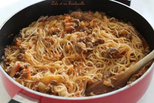 One pot pasta à la bolognaise