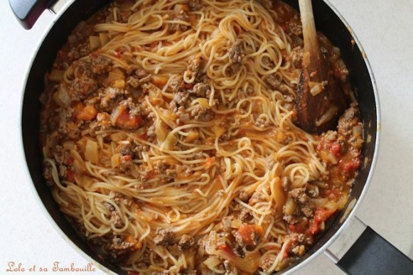 One pot pasta à la bolognaise