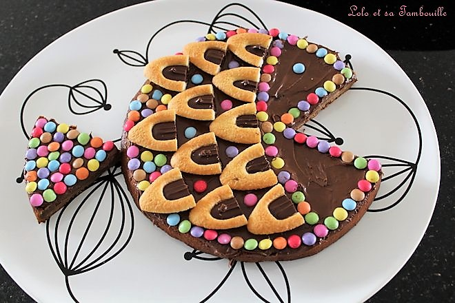 Gâteau poisson {au chocolat praliné}
