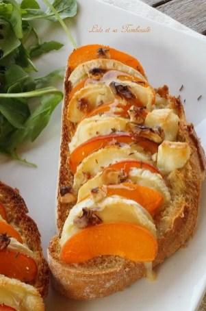 Bruschettas d'abricots & crottin de Chavignol (4)