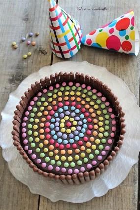 Gâteau d'anniversaire au chocolat & smarties (4)
