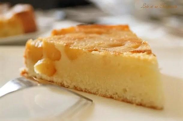 Gâteau moelleux au yaourt & pommes caramélisées
