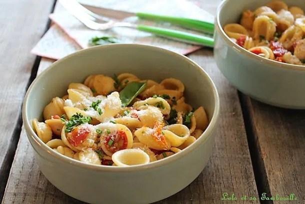 Pâtes aux tomates rôties & basilic