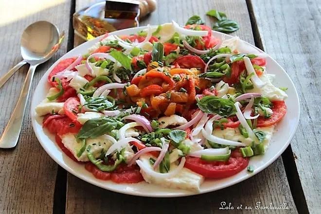 Tomates à la mozzarella