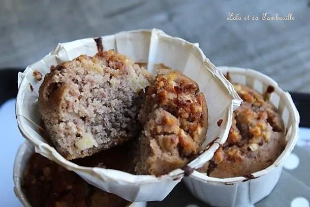 Muffins à la farine de châtaigne & pomme