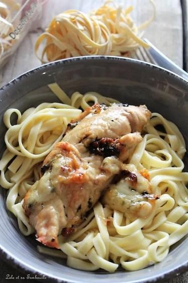 Saltimboca de poulet {pesto, mozzarella & tomates confites} (4)