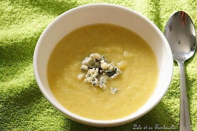 Soupe de poireaux au bleu d'Auvergne