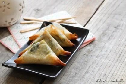 Samossas d'épinards & truite fumée (2)