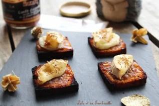 Toasts de pain d'épices & chèvre {confiture d'oignon} (3)