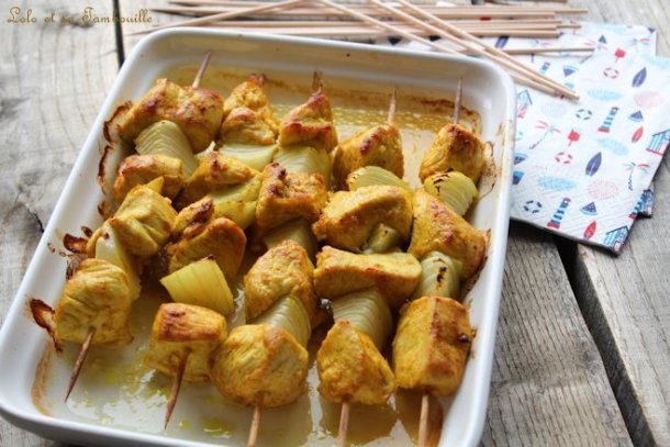 Brochettes de dinde aux épices