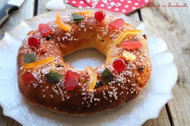 Gâteau des rois Provençal {Couronne Briochée}