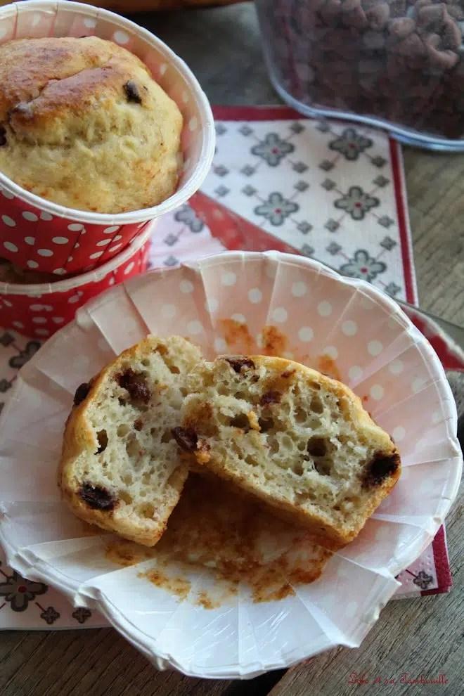 Muffins allégés bananes & pépites de chocolat