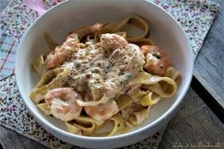 Tagliatelles aux truffes & crevettes (5)