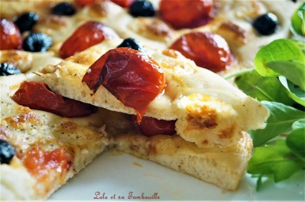Foccacia tomates cerises & mozzarella