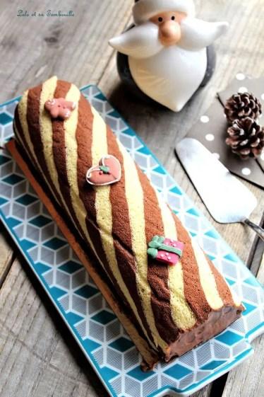 Bûche au chocolat caramel (6)