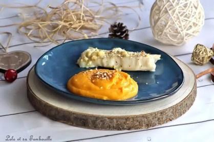 Cabillaud au pécorino truffé & puréée de butternut (2)