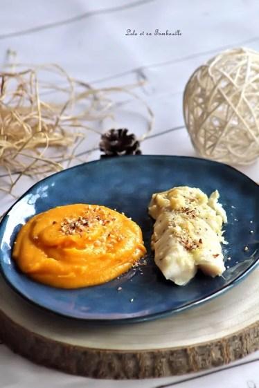Cabillaud au pécorino truffé & puréée de butternut (3)