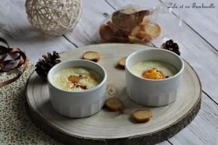 Oeufs cocottes au brie & lardons (2)