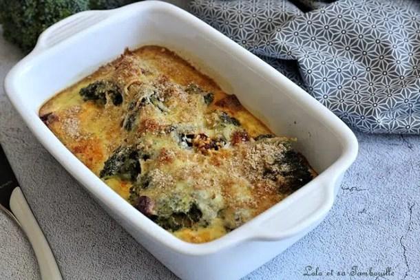 Flan de brocolis & chorizo