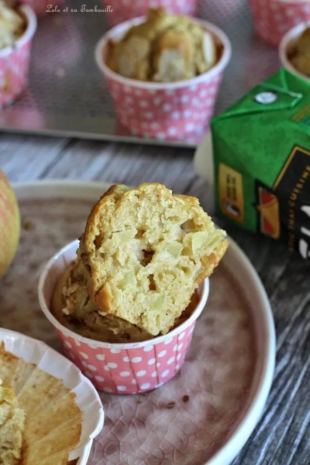 Muffins au lait de coco & pommes