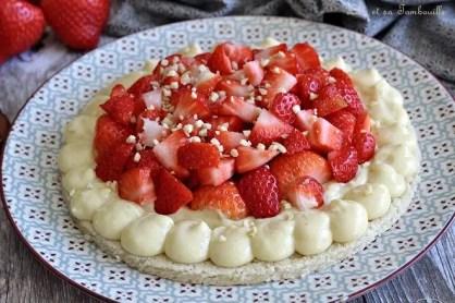 Dacquoise aux fraises (2)