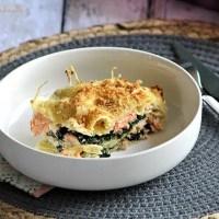 Lasagnes aux épinards & saumon