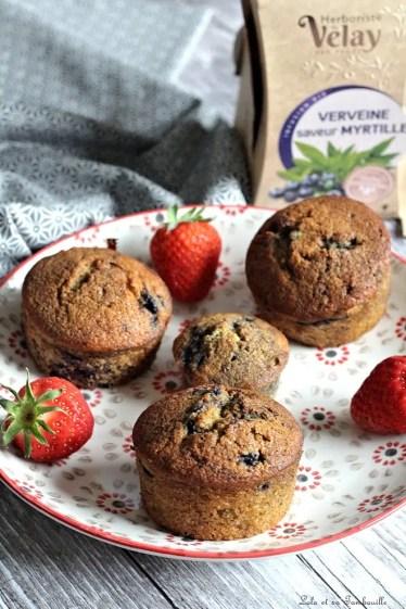 Muffins aux myrtilles {aux blancs d'oeufs} (4)