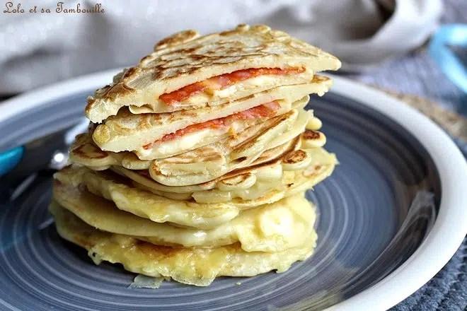 Pancakes fourrés au chorizo